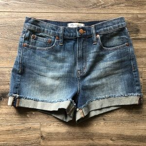 MADEWELL Rolled Denim Jean Shorts